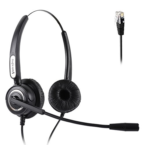 Corded RJ9 Phone Headset Binaural with Noise Canceling Microphone ONLY for Cisco IP Phones: Such as 6941 7942 7971 8841, 8851, 8861,8945, 8961, 9951, 9971 (Corded Headset Amplifier)