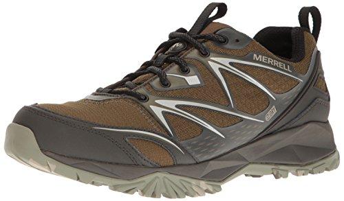 Merrell Men's Capra Bolt Waterproof Hiking Shoe, Dark Olive, 8.5 M US ()