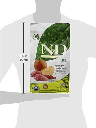 FARMINA - N & D Libre de Granos, con Carne de jabalí y Manzana, DE 1.5 kg, para Gatos: Amazon.es: Productos para mascotas