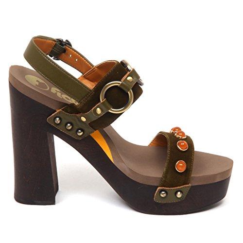 Entrada Sandalo Suede Flogg D8886 femme Verde Woman Shoe Sandal Green chaussures IHwZwq