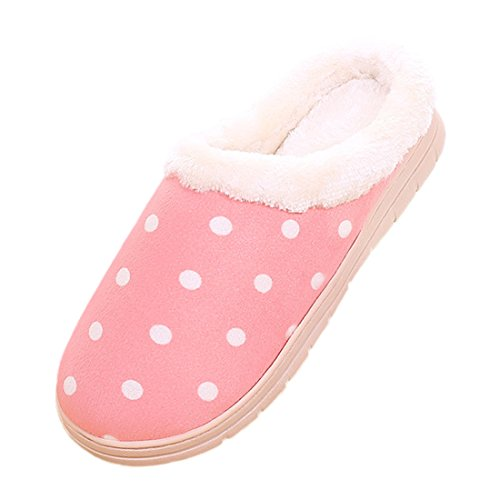 Cozy Womens bestfur Sole Slippers Fuzzy Warm Pink Soft House taa7qw1