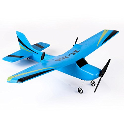 [RC Airplane] Z50 Gyro RTF Remote Control Glider 350mm Wingspan EPP Micro Indoor (Blue) ()