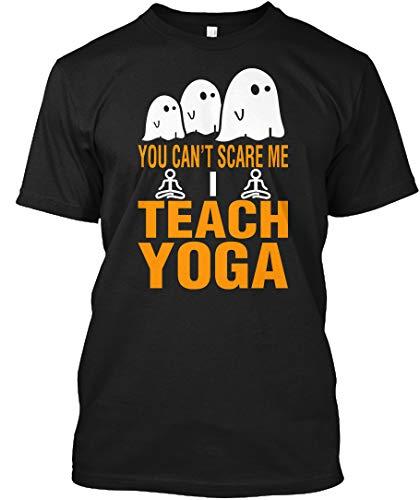 teespring You Cant Scare me i Teach Yoga 2XL - Black Tshirt - Hanes Tagless Tee T Shirt for Men & Women -