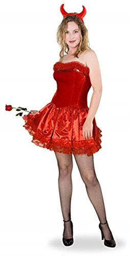 Women's Red Devil Halloween Party Costume Set, Medium/Large