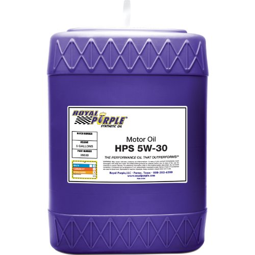 Royal Purple 35530 HPS 5W-30 High Performance Street Synthetic Motor Oil with Synerlec - 5 gal.