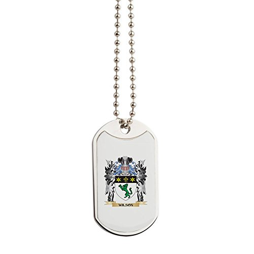 - CafePress - Wilson Coat Of Arms - Family Crest - Military Style Dog Tag, Stainless Steel with Chain