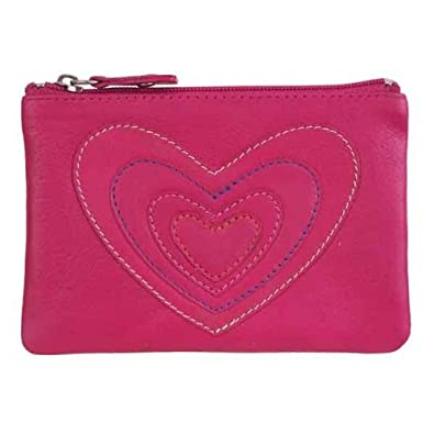 eff49206d4e Mala Leather Pinky Pink Heart Layered Coin Purse  Amazon.co.uk  Clothing