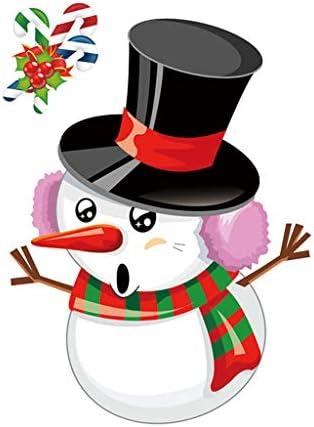 [해외]Merry Christmas Window Wall Sticker Decals Snowflake Santa Claus Home Xmas Decor Window Clings Decal Wall Stickers XmasHolidayWinter Wonderland Decorations Ornaments Party Supplies (H) / Merry Christmas Window Wall Sticker Decals S...