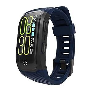 OOLIFENG Reloj Running con GPS, IP68 Impermeable GPS para Ciclismo Velocímetros con Pulsómetros para Al Aire Libre Aventurero,Blue: Amazon.es: Deportes y ...