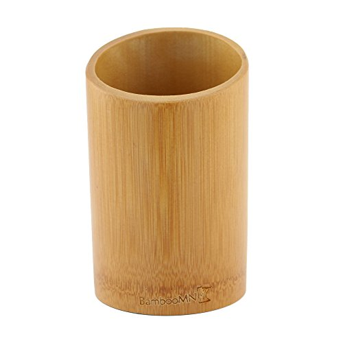BambooMN - Bamboo Kitchen Utensil Holder - Carbonized Brown - 1 Piece