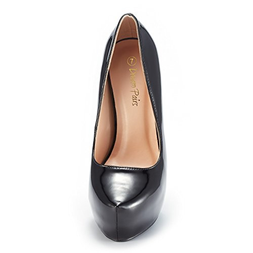 PAIRS 30 Heel Dress Pat Swan High Pump Black Plaform Women's DREAM Shoes OtqnwdROS