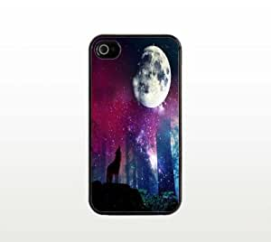 Howl at the Moon iPhone 5 5s Case - Cool Black Plastic Snap-On Cover - Wolf Design