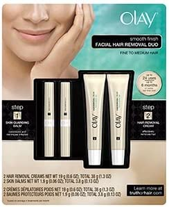 Amazon Com Olay Smooth Finish Facial Hair Removal Kit Includes