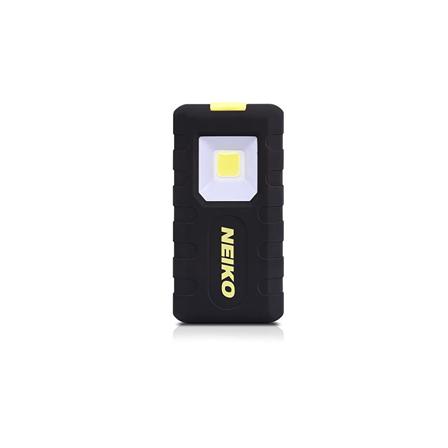 Neiko 40304A Compact 1.5W COB LED Pocket Light | 150 Lumens Brightness | Magnetic Rear Clip | 3 AAA Batteries Included