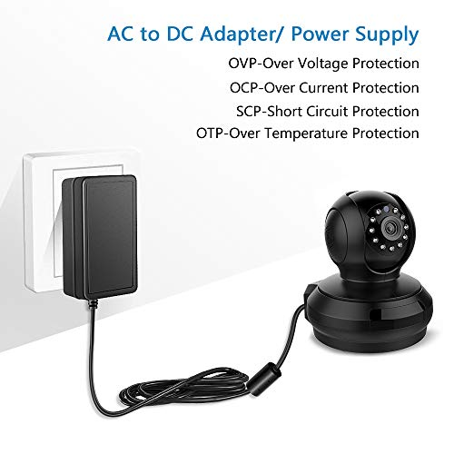 SHNITPWR 24V DC Power Supply Adapter 24 Volt 2A 48W AC to DC Converter Transformer 100~240V AC Input with 5.5x2.5mm DC Tip for 5050 3528 LED Strip 3D Printer CCTV Security System LCD Monitor