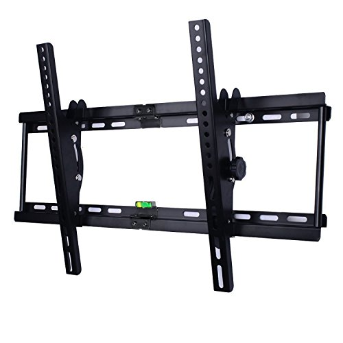 Happyjoy Low Profile Tilting TV Wall Mount Bracket for 30-70 Inch Samsung LG Sony Philips etc LCD LED Plasma Flat Panels TV with Bubble Level (±15 degree tilt, Max VESA 600x400mm, 165 lbs Capacity)