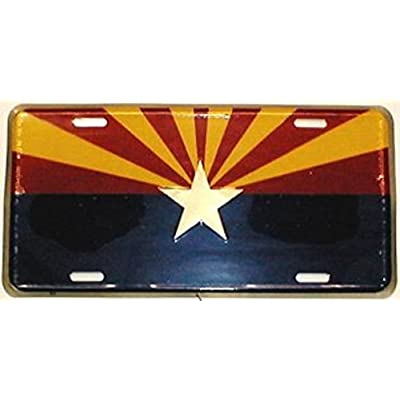 Dixie Arizona Starburst State Flag License Plate: Automotive