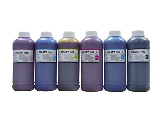 ND TM Brand Dinsink: 6 Pint (6x500ml) (CMYK/LC/LM) dye refill ink for Epson Stylus Pro 7000 9000 10000 10600 Printer cartridge T499011 T500011-T504011