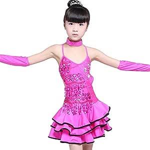 Faldas de danza para niña, Niños Niñas Vestido de baile latino sin ...