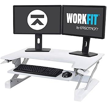 Amazon Com Ergotron Workfit T Sit Stand Desk Converter