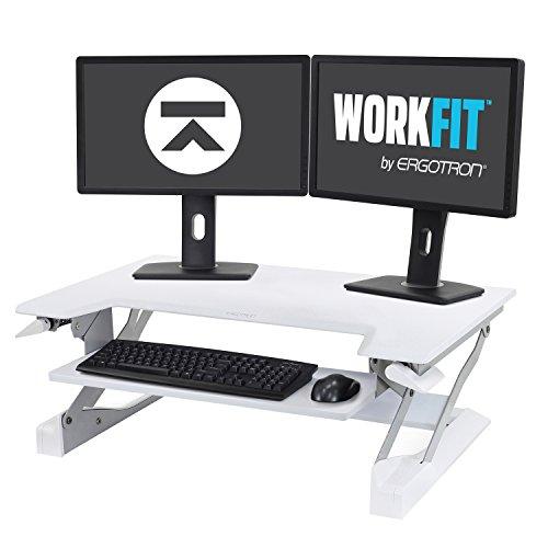 Ergotron WorkFit-T, Sit-Stand Desk Converter | White, 35