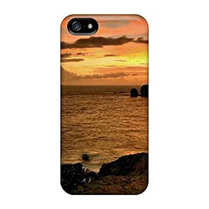 MubjuYg6100LivXW Anti-scratch Case Cover Kallard Protective Water Clouds Landscapes Horizon Seas Dusk Skyscapes Case For Iphone 5/5s