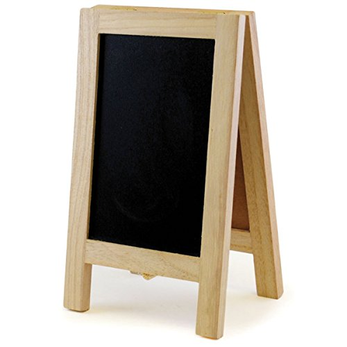Multicraft Imports Chalkboard/Cork Easel, 4.375-Inch by 7.375-Inch