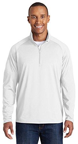 Sport-Tek Sport-Wick Stretch 1/2-Zip Pullover. ST850 White 2XL - Sport Tek White Sweatshirt