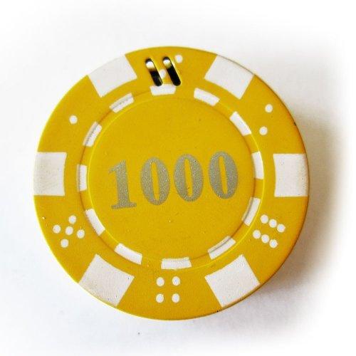 1x Yellow Poker Chip Refillable Butane Cigar Cigarette Lighter