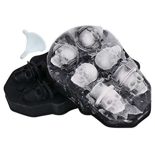 3D Skull Ice Cube Mold,Flexible Food Grade Silicone