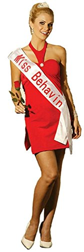Beauty Contest Winner Miss Behavin Adult Sexy Costume Red Dress Size Large 10-14