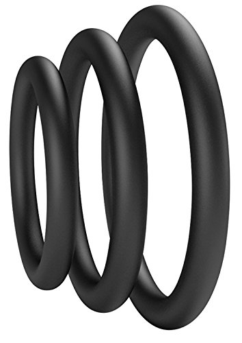 Beauty Molly Superior Silicon Penis Cock Ring Set Crings Erection Enhancing c-Ring for Men Adult Sex Toys, 3 Rings