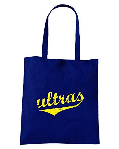 T-Shirtshock - Bolsa para la compra T0050 Ultras calcio ultras Azul Marino