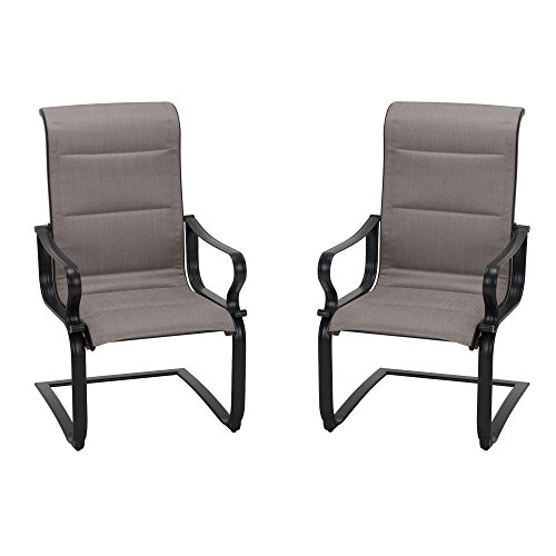 Cosco Outdoor Living 88408BRGE Smart Connect Motion Patio Chair, 2-Pack, Beige (Chairs Patio Furniture Motion)