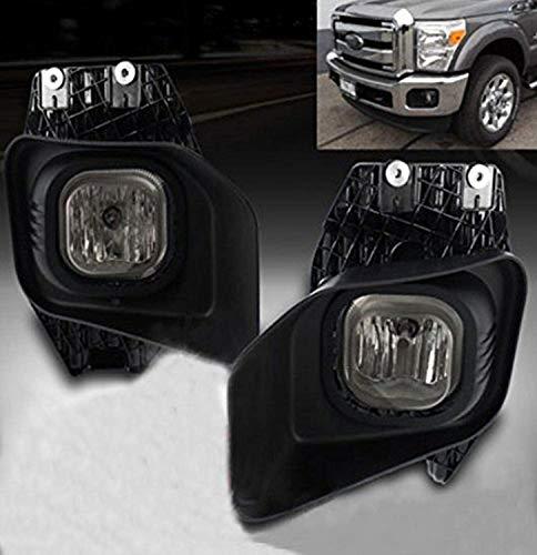(Remarkable Power FL7120 Fit For 2011-15 Ford F250-350 Super Duty Slightly Smokey Black Bezel Fog Light Kit )