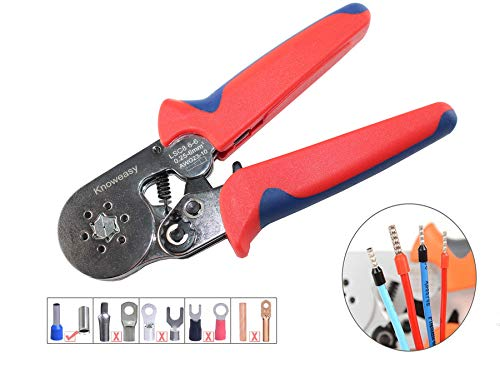 Hexagonal Crimper,Knoweasy Ferrel Crimping Tool Used For 23-10 AWG (Similar To 0.25-6 Mm2) Cable End-Sleeves LSC8 - Crimper Square