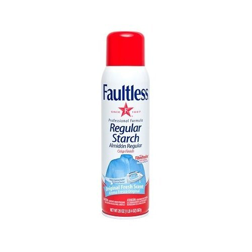 Faultless Regular Spray Starch 20 oz Cans (Pack of 12)
