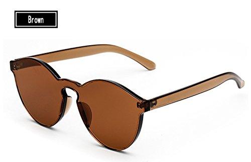 Sol Gafas Caramelos Hombre Sunglasses del de Vintage brown Sol de Gafas TL de Amarillo Gafas Mujer Mujer Color Ovqt6n4