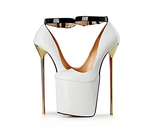 Red EUR45UK105 High Fall PU Heel Nouveau Bain Party Wedding Pompes Black Sexy imperméables artificielles Shoes Nightclub Stiletto Dressy Superficiel NVXIE Bracelet Cheville WHITE Dames Single Spring Femmes HXqZqFU