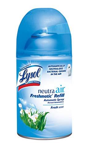 Lysol Neutra Air Freshmatic Automatic Spray, Fresh Scent, 5.89 Oz, Air Freshener, Odor Neutralizer(Packaging may vary) (Lysol Neutra Air Sanitizing Spray Fresh Scent)