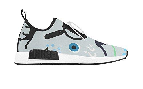 Pop Creatie Dames Ademende Schoenen Dames Wandelschoen Sneaker Voor Ster Ontwerp White04