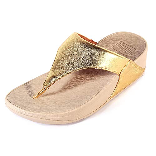 (FitFlop Women's Lulu¿ Artisan Gold/Frappe 7 M US)