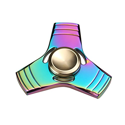 FST Spinner Fidget Toy,Novelty Hand Spinner, Rainbow Creative Funny Metal Spinning Tops EDC Anti Stress Toys Child Gift Rotation Time Long 3 min + Spin Time!