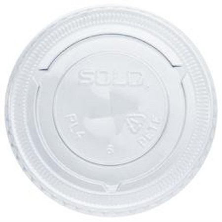 SOLO Cup Company Straw-Slot Cold Cup Lids, For 7oz Plastic Cups, Clear, Plastic - Includes 20 bags of 125 lids each.