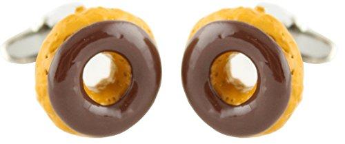 Chocolate Cufflinks MasGemelos Donuts-Boutons de Manchette
