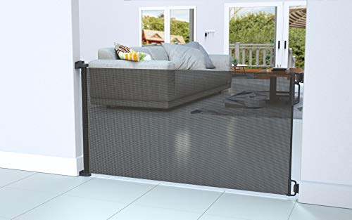 """Perma Child Safety Outdoor Retractable Baby Gate, Extra Wide up to 71"""", Black by Perma Child Safety (Image #6)"""