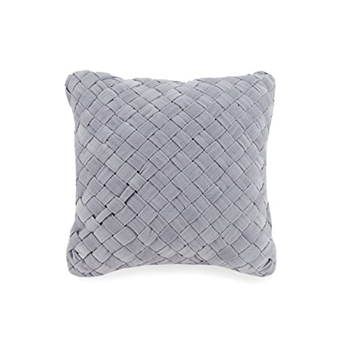 Vera Bradley A754A16GYICE Woven Velvet Decorative Pillow, 16X16'' , Grey