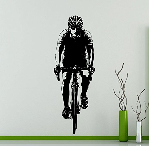 - Awesome Decals Bicyclist Cyclist Wall Decal Sport Cycling Bicycle Club Vinyl Sticker Home Interior Art Decoration Any Room Mural Waterproof Vinyl Sticker (25ex)