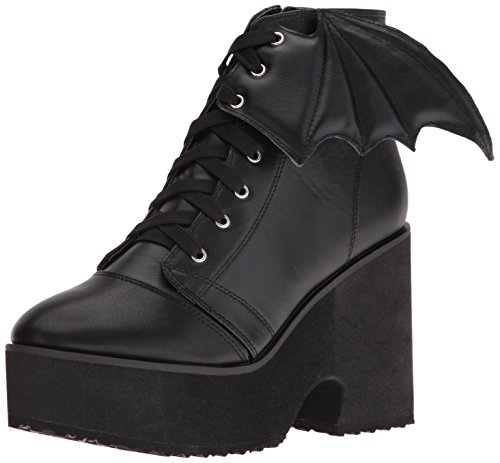 Black Bat Wing Women's Riding Iron Boot Fist YqFEg
