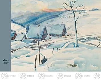 """Winterlandschaft NEU Postkarte Künstlerkarte Max Schanz /""""Farben des Gebirges/"""""""